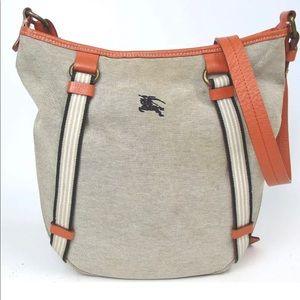 Burberry blue label canvas shoulder bag